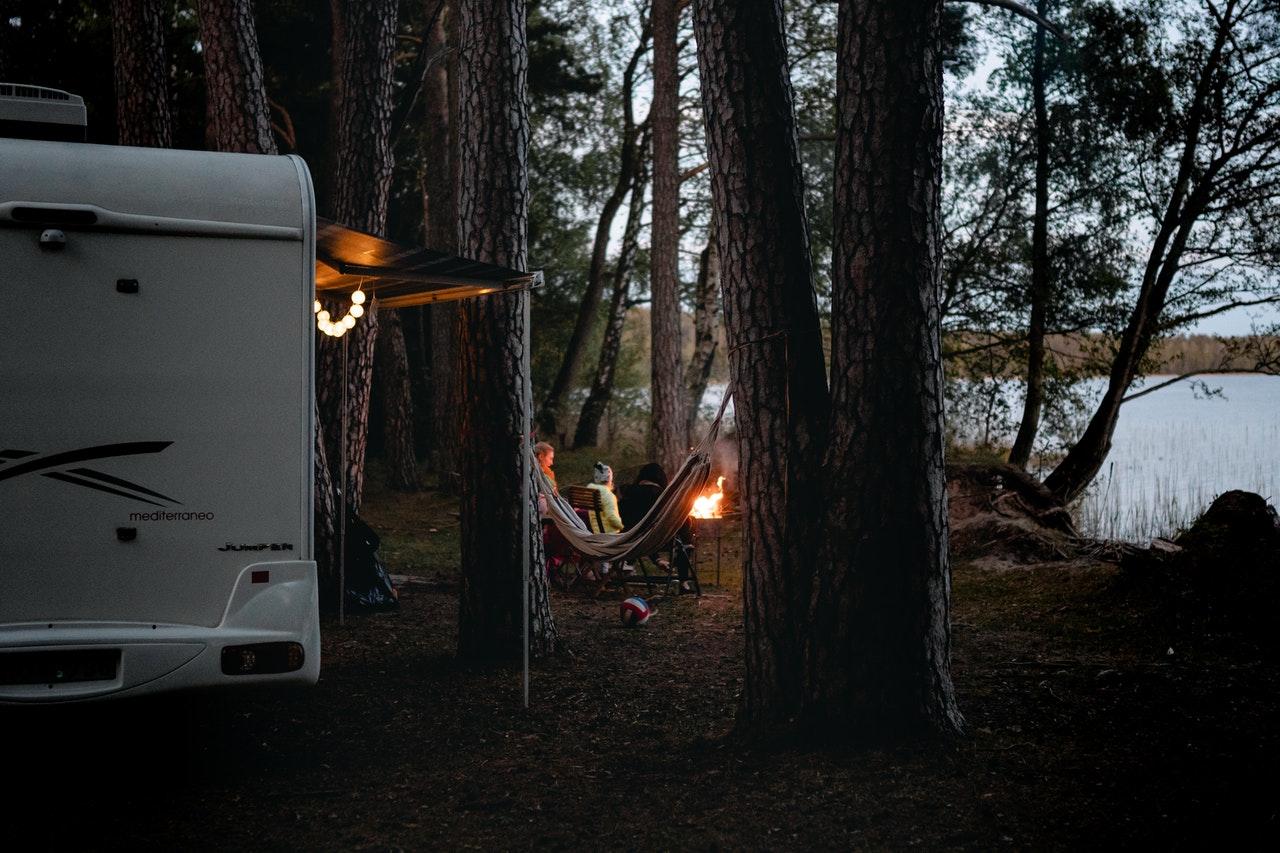 Camping direkt am See